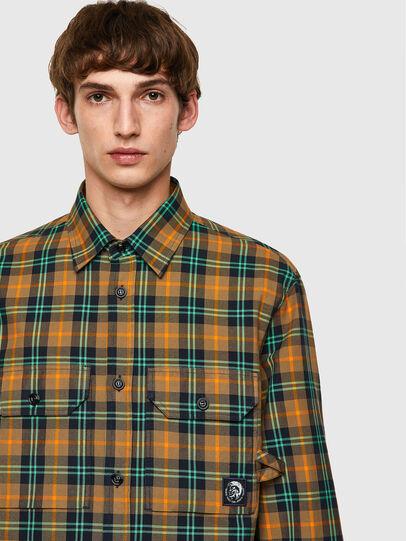 Diesel - S-JESS-CHECK, Naranja/Verde - Camisas - Image 3