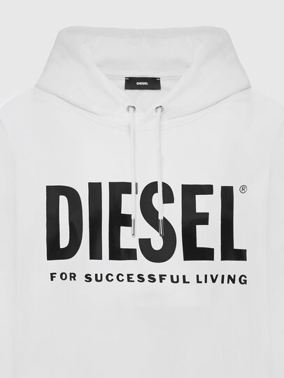 Diesel - F-ANG-HOOD-LOGO, Blanco - Sudaderas - Image 3