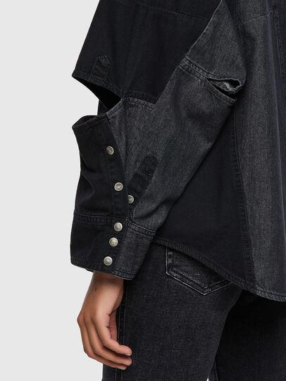 Diesel - DE-RINGLE, Negro - Camisas de Denim - Image 4