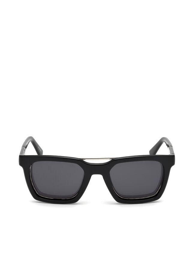 Diesel - DL0250, Negro Brillante - Gafas de sol - Image 1