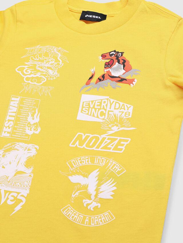 Diesel - TUCSEB-R, Amarillo - Camisetas y Tops - Image 3