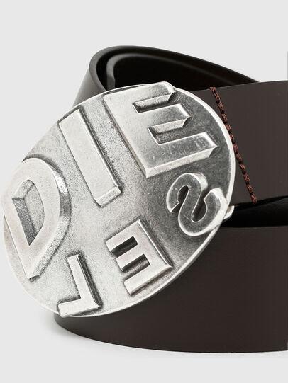 Diesel - B-METALROUND, Marrón - Cinturones - Image 2