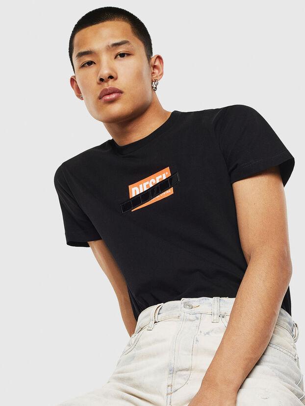 T-DIEGO-S7, Negro/Naranja - Camisetas