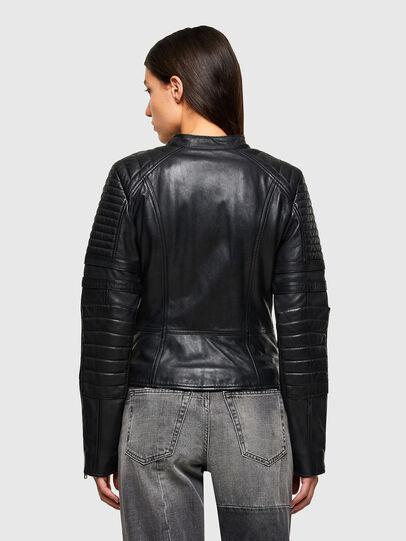 Diesel - L-IGE-NEW-A, Negro - Chaquetas de piel - Image 2