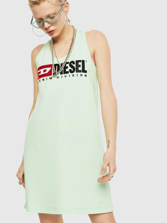 Diesel - T-SILK, Verde Fluo - Tops - Image 1