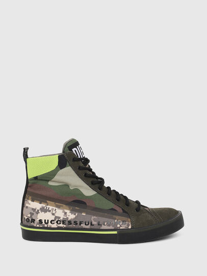 Diesel - S-DVELOWS MID, Verde Camuflaje - Sneakers - Image 1