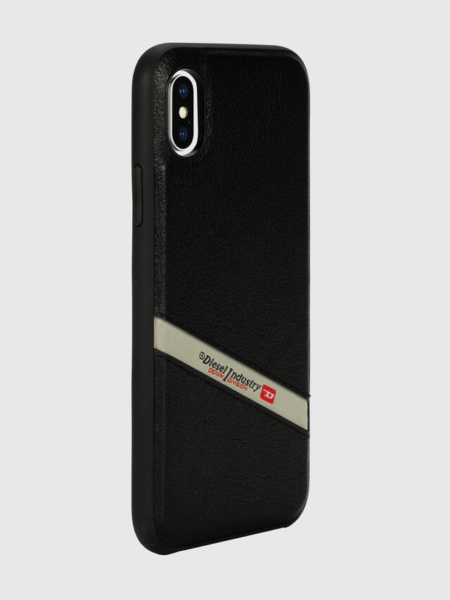 Diesel - DIESEL LEATHER CO-MOLD CASE FOR IPHONE XS MAX, Negro - Fundas - Image 6