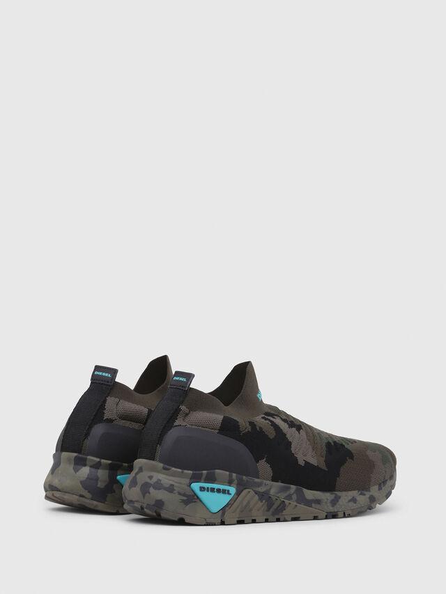 Diesel - S-KB ATHL SOCK, Verde Camuflaje - Sneakers - Image 3
