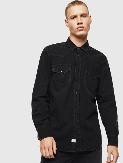 Diesel - D-EAST-P, Negro - Camisas de Denim - Image 1