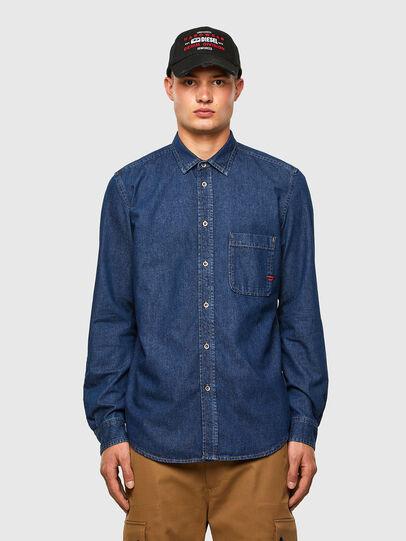 Diesel - D-BILLY, Azul Oscuro - Camisas de Denim - Image 1