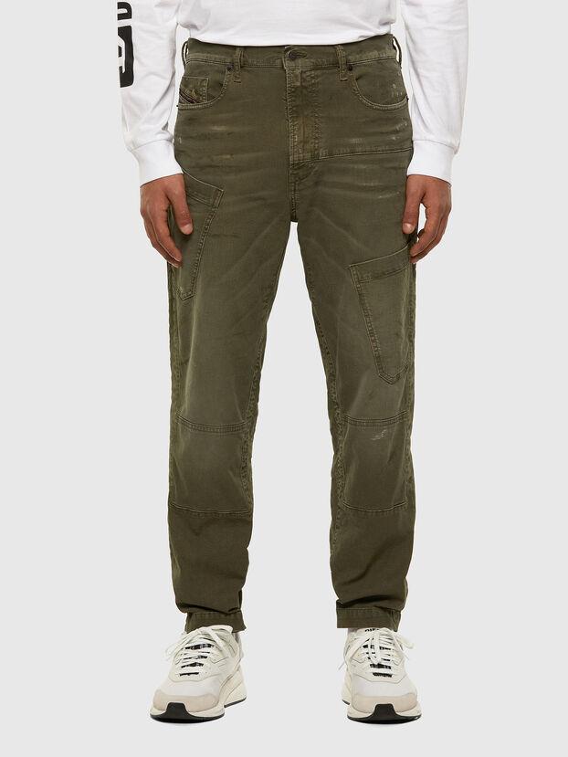 D-Azzer JoggJeans 069NF, Verde Militar - Vaqueros