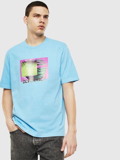 Diesel - T-JUST-NEON-S1, Celeste - Camisetas - Image 1