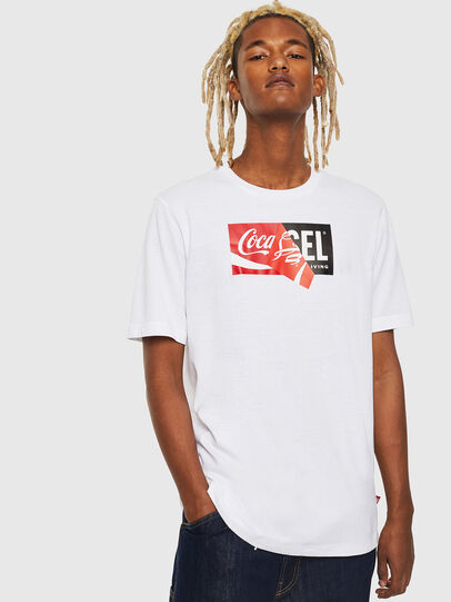 Diesel - CC-T-JUST-COLA, Blanco - Camisetas - Image 1