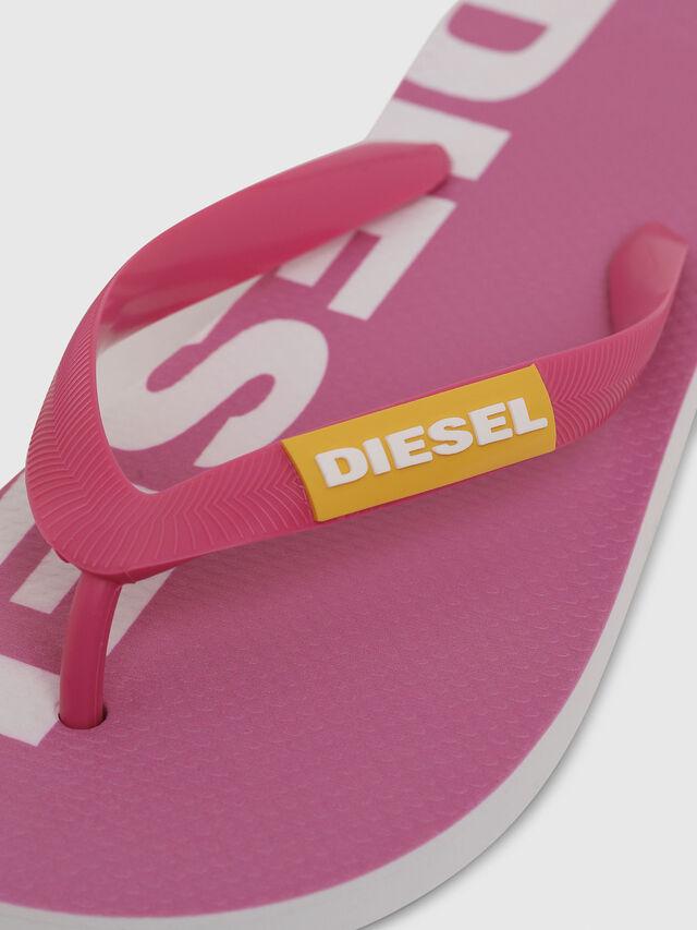 Diesel - SA-BRIIAN W, Rosa/Blanco - Chanclas - Image 3