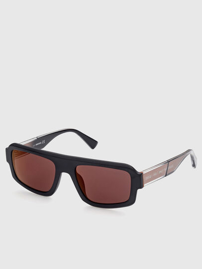 Diesel - DL0348, Negro/ Rojo - Gafas de sol - Image 2