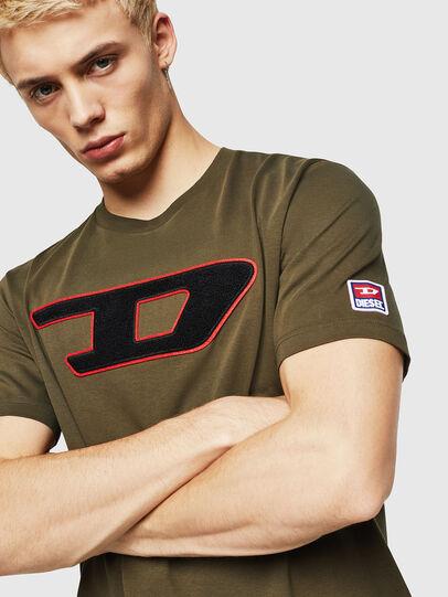 Diesel - T-JUST-DIVISION-D, Verde Militar - Camisetas - Image 3