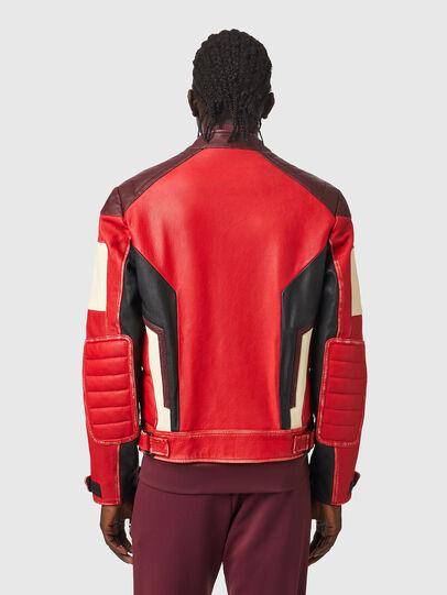 Diesel - L-TEAM, Rojo/Negro - Chaquetas de piel - Image 2
