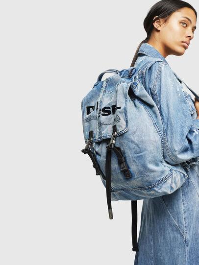 Diesel - VOLPAGO BACK, Blue Jeans - Mochilas - Image 6