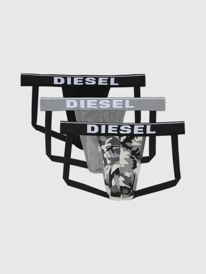 Diesel - UMBR-JOCKYTHREEPACK, Gris/Negro - Jockstraps - Image 1