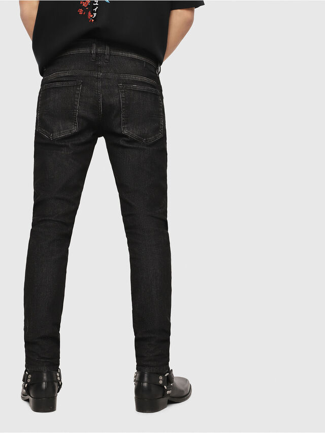 Diesel - Thommer JoggJeans 0077U, Negro/Gris oscuro - Vaqueros - Image 2