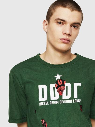 Diesel - T-JUST-LAY, Verde - Camisetas - Image 3