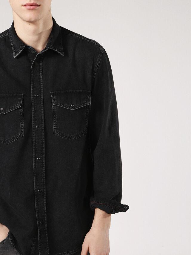 Diesel - D-ROOKE, Black Jeans - Camisas de Denim - Image 3