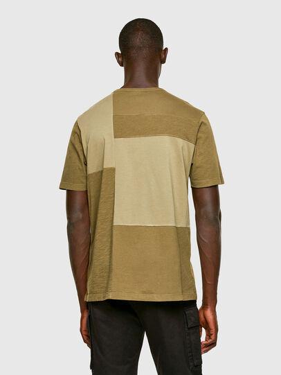 Diesel - T-ATCHWORK, Verde Militar - Camisetas - Image 2