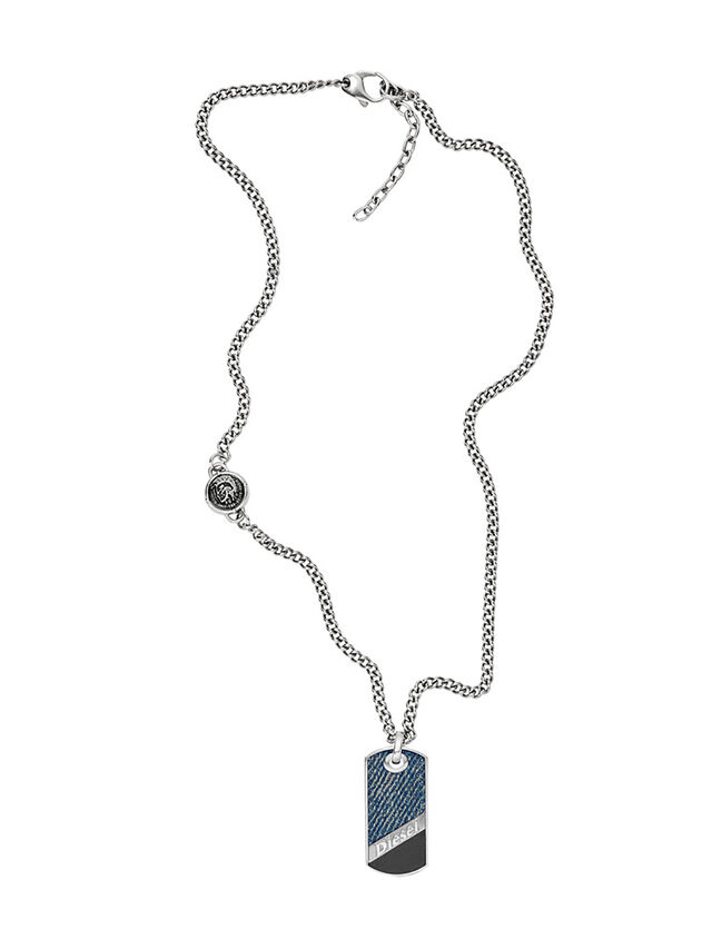 Diesel NECKLACE DX1030, Blue Jeans - Collares - Image 1