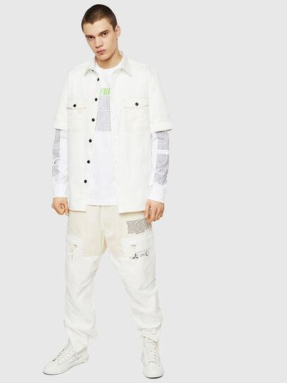 Diesel - T-JUST-LS-NEW, Blanco - Camisetas - Image 5