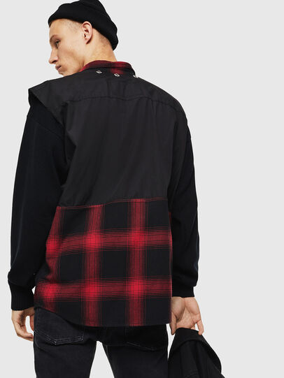 Diesel - D-WELLES, Negro/ Rojo - Camisas de Denim - Image 6