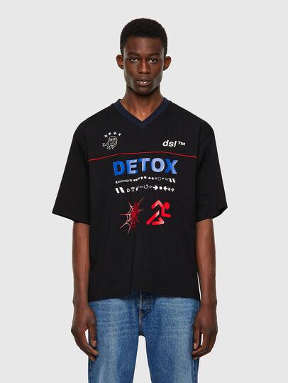 Diesel - T-DELPHIVY-SLITS, Negro - Camisetas - Image 1