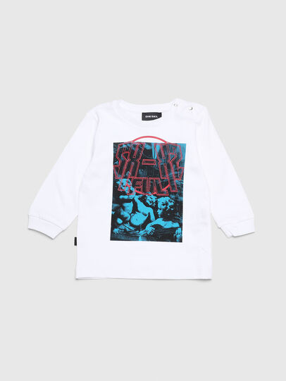 Diesel - TRAVEB, Blanco - Camisetas y Tops - Image 1
