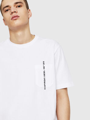 T-JUST-POCKET-COPY, Blanco - Camisetas
