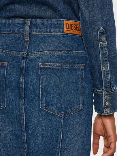 Diesel - DE-PENCIL-ZIP, Azul medio - Faldas - Image 4