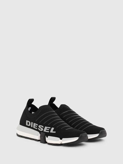 Diesel - H-PADOLA LOW SOCK, Negro - Sneakers - Image 2