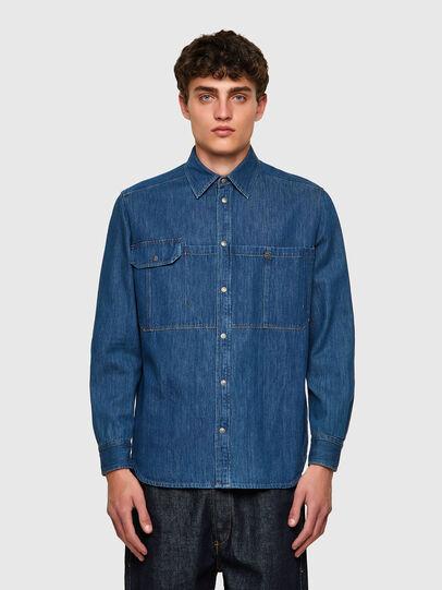 Diesel - D-MILLY-SP, Azul medio - Camisas de Denim - Image 1