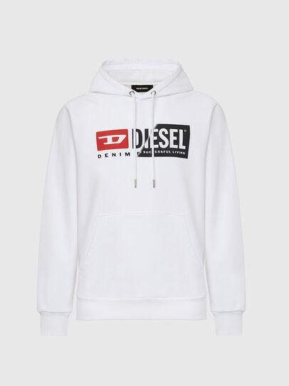 Diesel - S-GIRK-HOOD-CUTY, Blanco - Sudaderas - Image 1