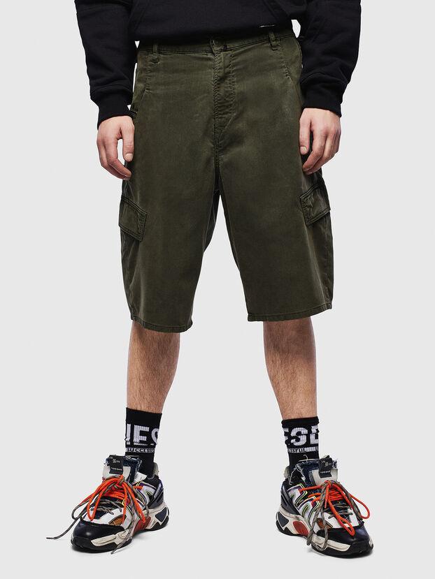 D-KRETT-SHORT JOGGJEANS, Verde Militar - Shorts