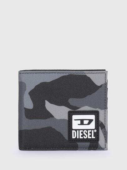 Diesel - HIRESH S, Gris/Negro - Monederos Pequeños - Image 1