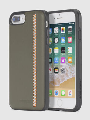 ZIP OLIVE LEATHER IPHONE 8/7/6s/6 CASE,  - Fundas