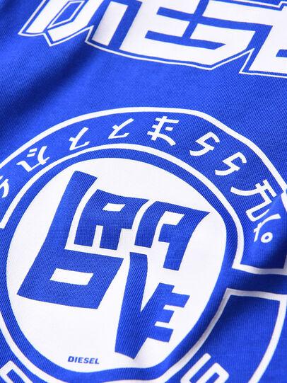 Diesel - TUCOB, Azul/Blanco - Camisetas y Tops - Image 3
