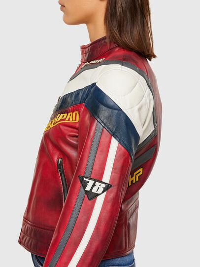 Diesel - L-POLLY, Rojo - Chaquetas de piel - Image 7