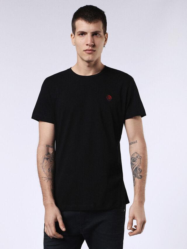 Diesel - DVL-T-SHIRT-ML-RE, Negro - Camisetas - Image 1