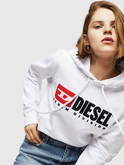 Diesel - F-GIR-HOOD-DIVISION-, Blanco - Sudaderas - Image 3