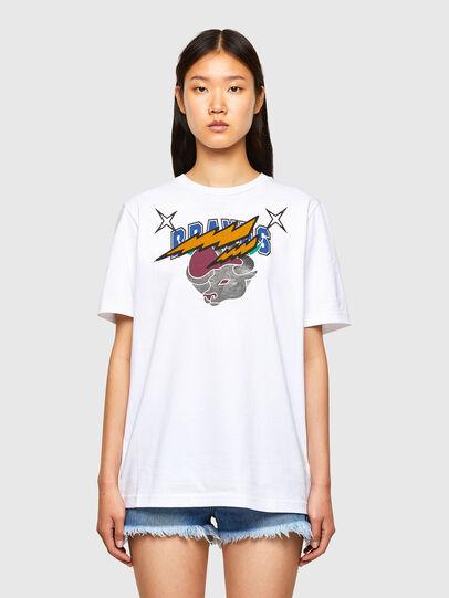 Diesel - CL-T-JUST-O1, Blanco - Camisetas - Image 2