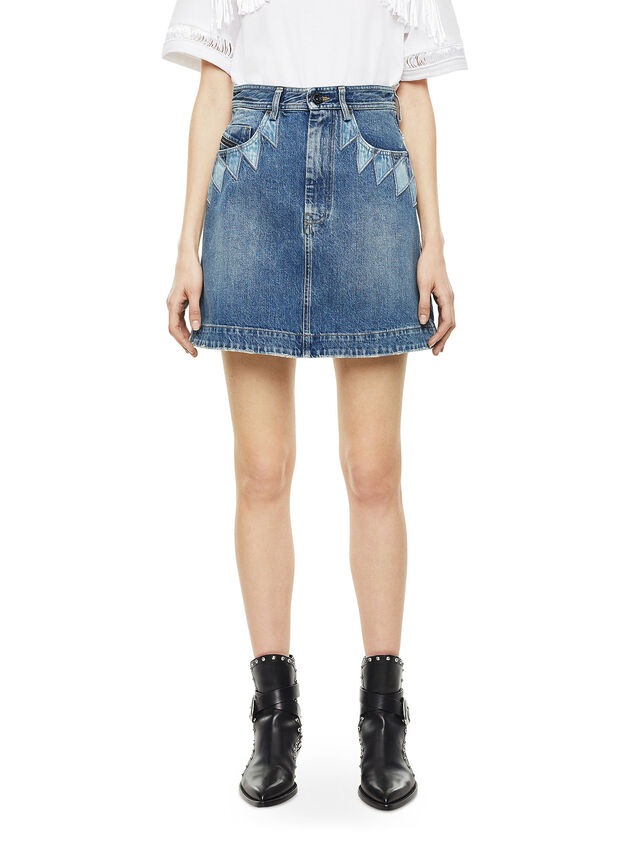 Diesel - OSSANA, Blue Jeans - Faldas - Image 1