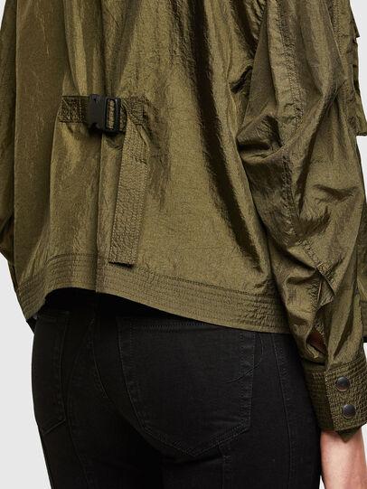 Diesel - C-CORAL, Verde Militar - Camisas - Image 4