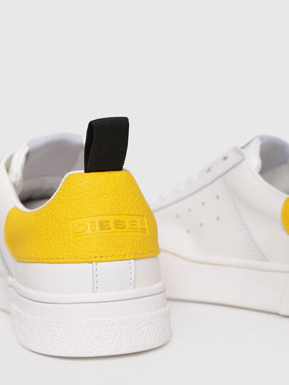 Diesel - S-CLEVER LOW W, Blanco/Amarillo - Sneakers - Image 4