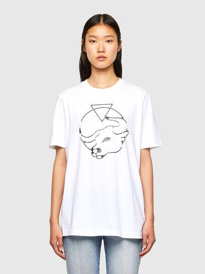 Diesel - CL-T-JUST-O, Blanco - Camisetas - Image 2