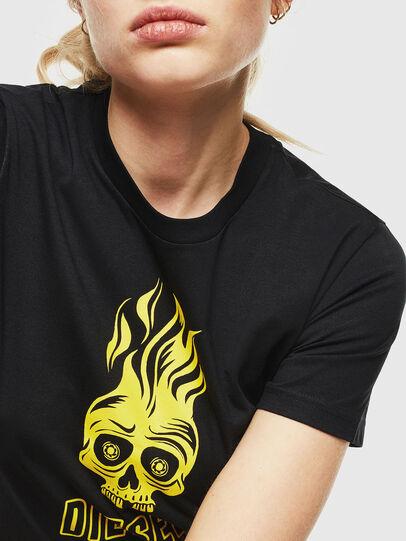 Diesel - T-SILY-WQ, Negro/Amarillo - Camisetas - Image 3